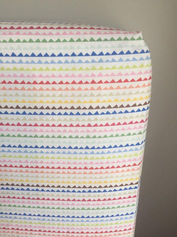 Ed Crib Sheet Gender Neutral Print Colorful Stripes Rainbow Nursery Custom Bedding Baby Decor By Preciousandpink
