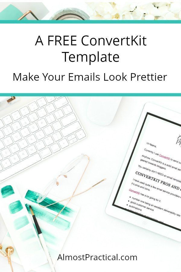 A Free Convertkit Template To Make Your Emails Look Pretty
