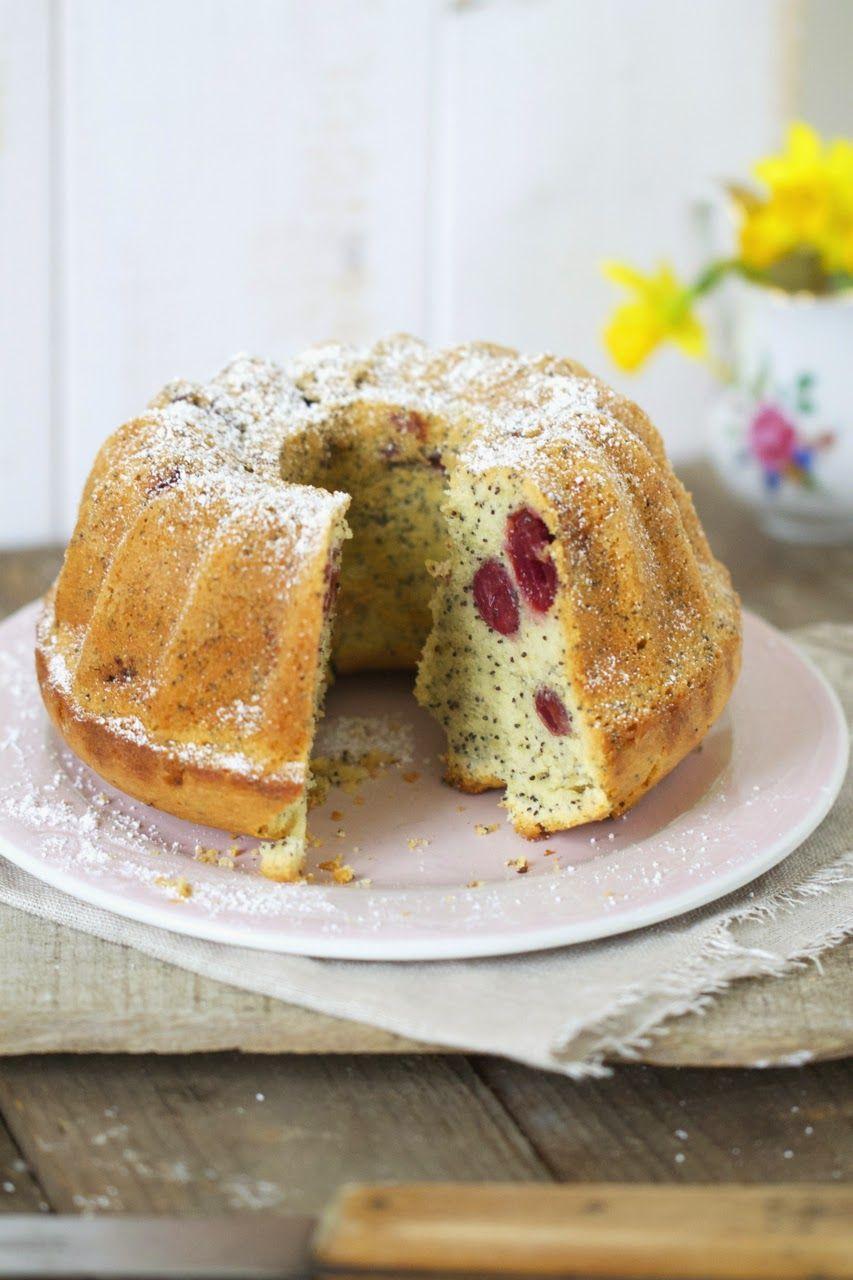 Eierlikorkuchen Mit Kirschen Und Mohn Kuchen Pinterest Kuchen