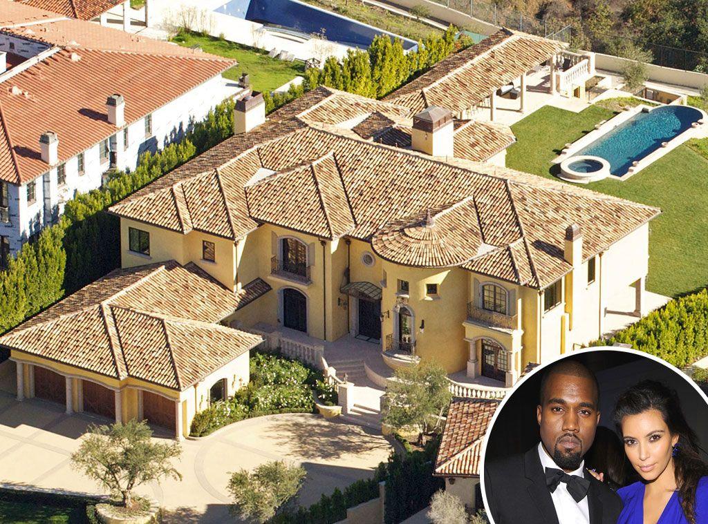 Kim Kardashian Kanye West From Celebrity Mega Mansions Casas De Celebridades Mansiones De Celebridades Mansiones