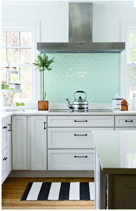 Pale Turquoise Tile Backsplash Kitchen Inspirations Fresh