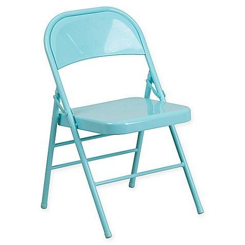 Flash Furniture Colorburst Steel Folding Chair Metal