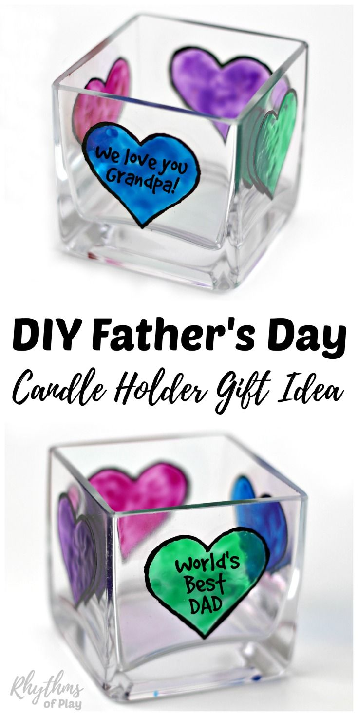 diy father s day personalized candle holder gift idea best of