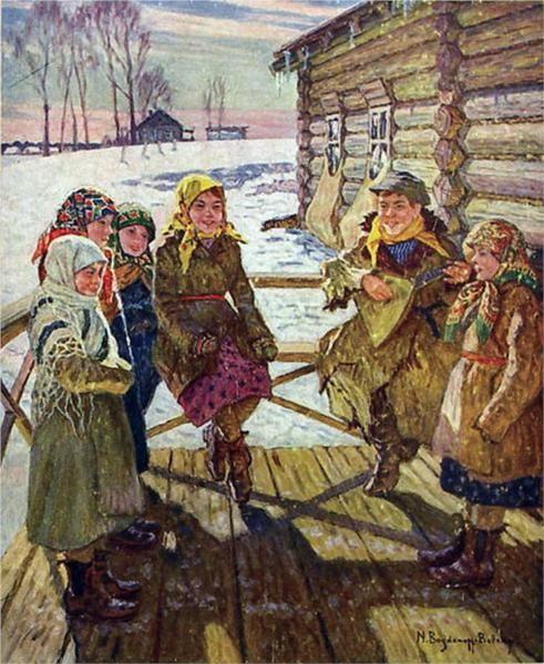 Celebration On A Steps by Nikolai Bogdanov-Belski.