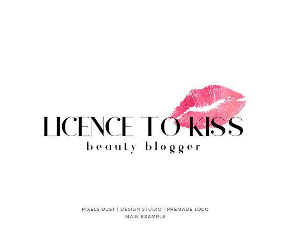 kiss logo premade logo design lips logo lipstick logo