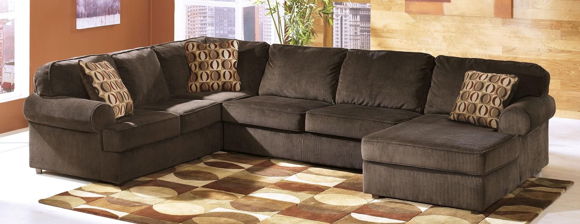 Ashley 68404173466 Vista Series Stationary Fabric Sofa 3 Piece