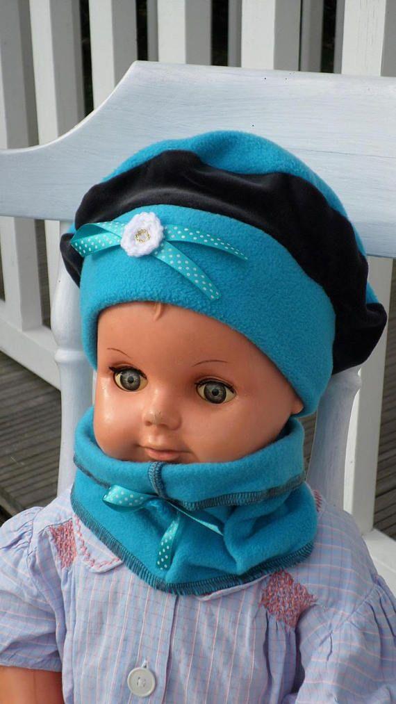 e02105bb1125 ensemble bonnet béret chapeau et snood tour du cou bébé fille ...
