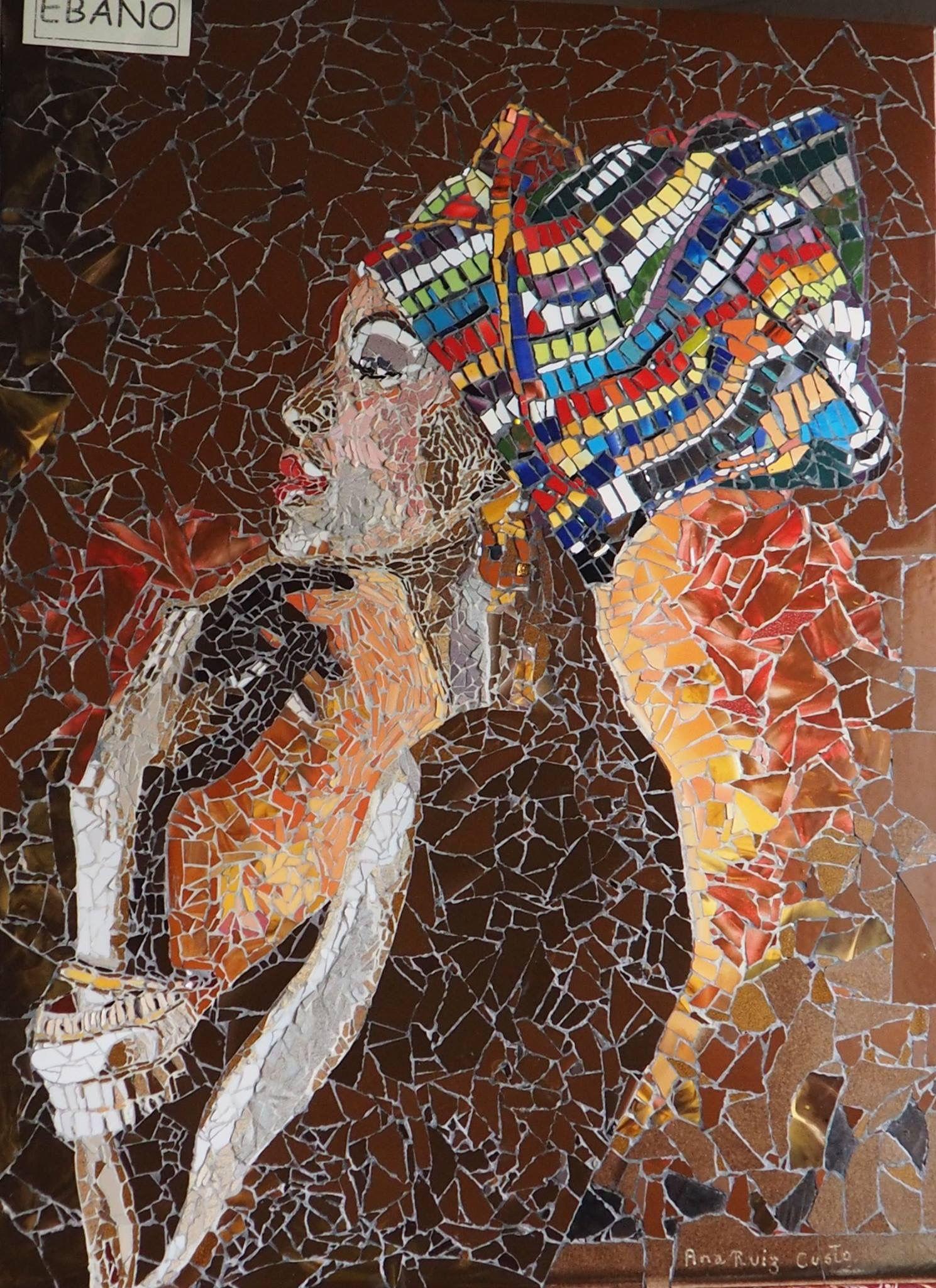 tableau africain rond
