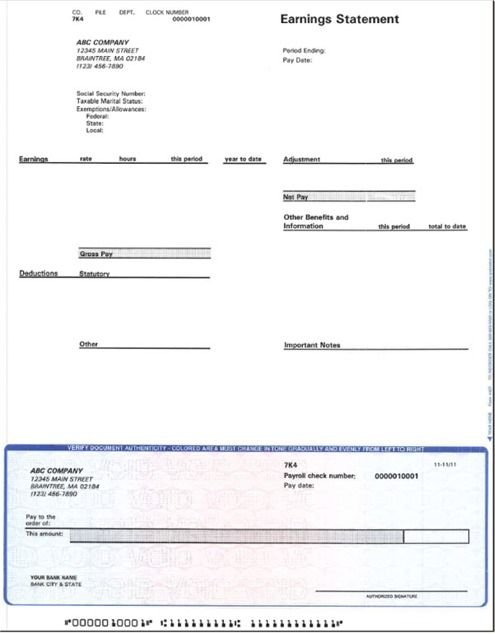 This automated form is made available compliments of CCH Business - blank pay stubs template