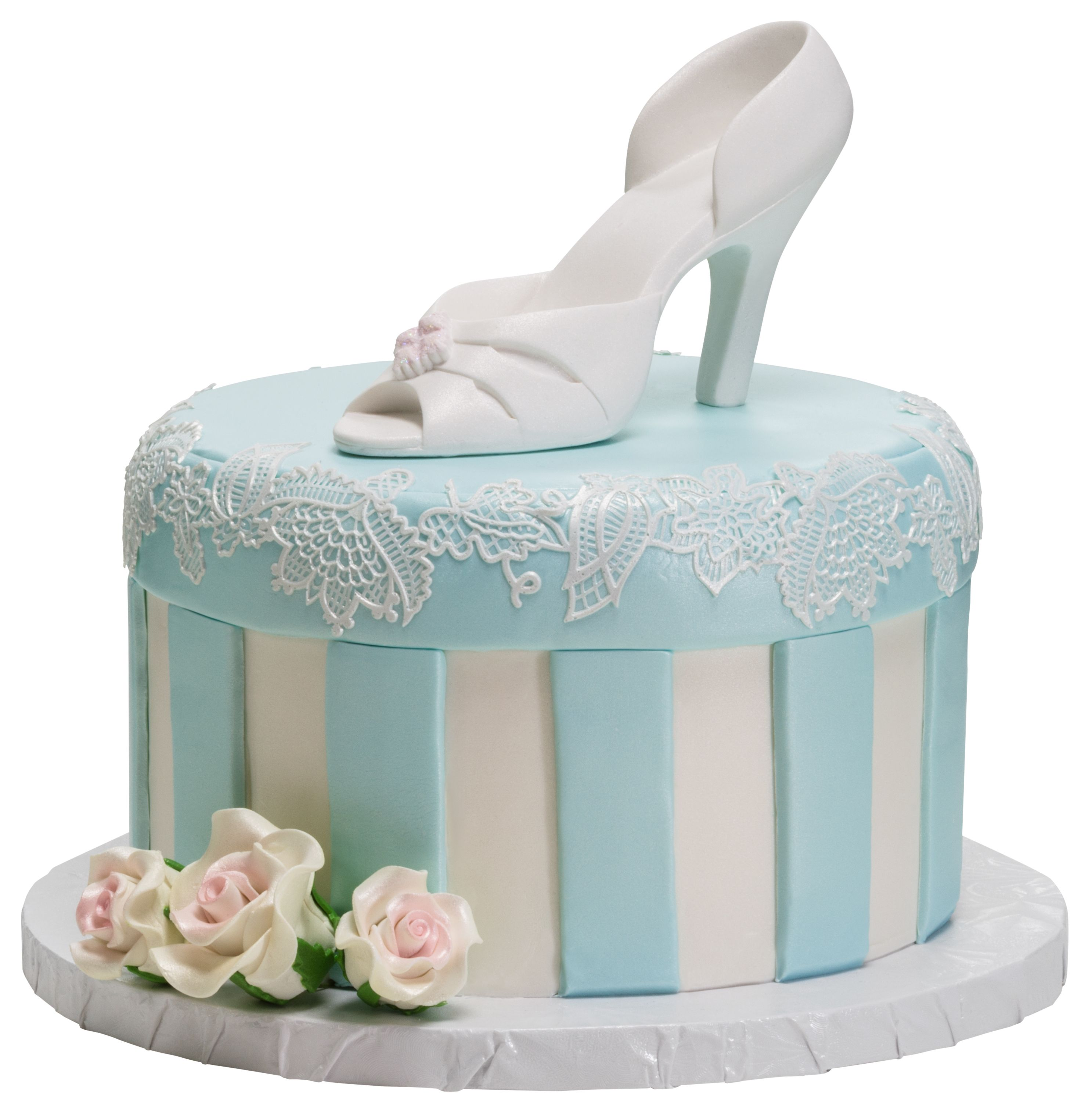 """Wedding Cakes Inspired By China Patterns: Small 6"""" Round Vintage Romance Cake By DecoPac"""