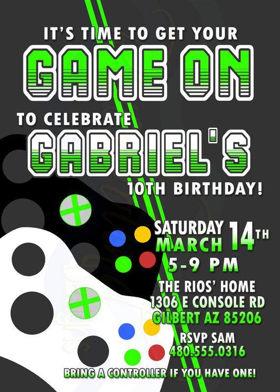 printable video game birthday