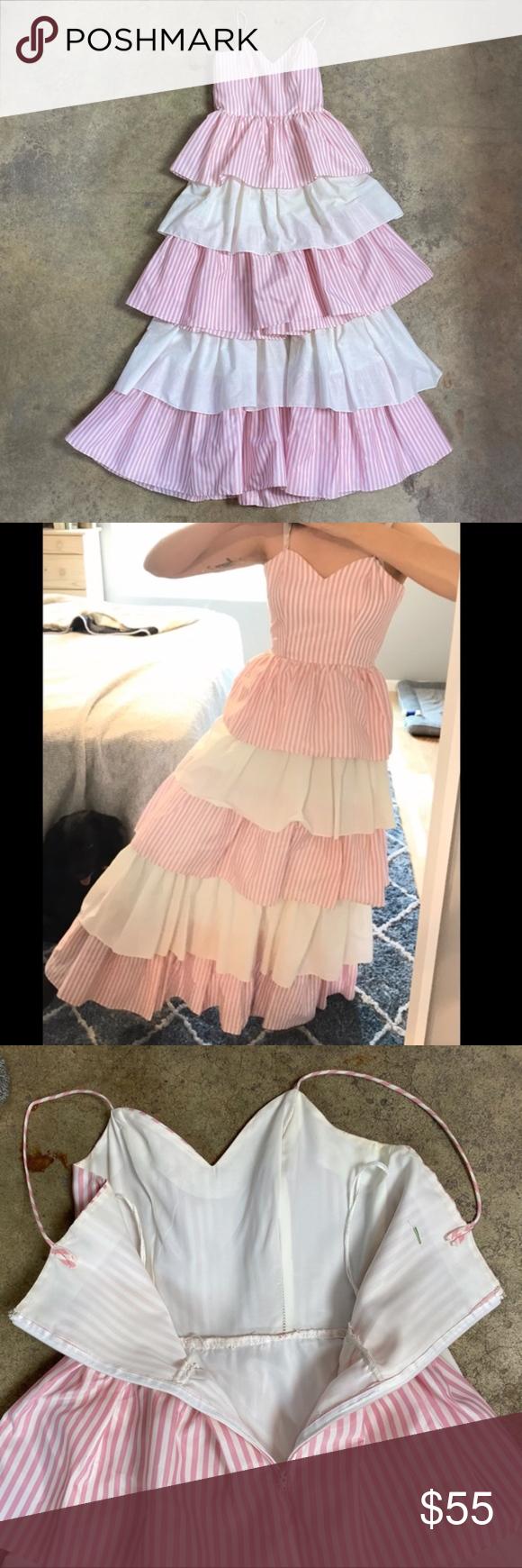 2pc Vintage Homemade Tiered Ruffle Bo Peep Dress True Vintage Hand Made Homemade Unbranded Wide Ruffles P Bo Peep Dress Fairy Princess Costume Vintage Dresses [ 1740 x 580 Pixel ]