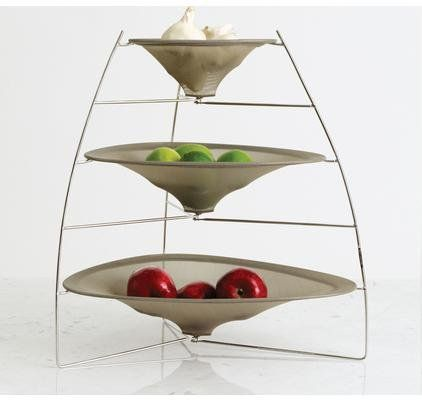 Chilewich Raytray Three Tier Fruit Bowl Smoke H