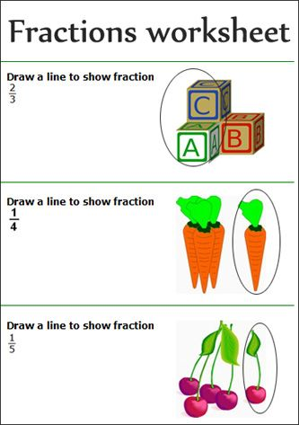Math Worksheets fraction math worksheets : fractions worksheets, Free Printable primary school show fractions ...
