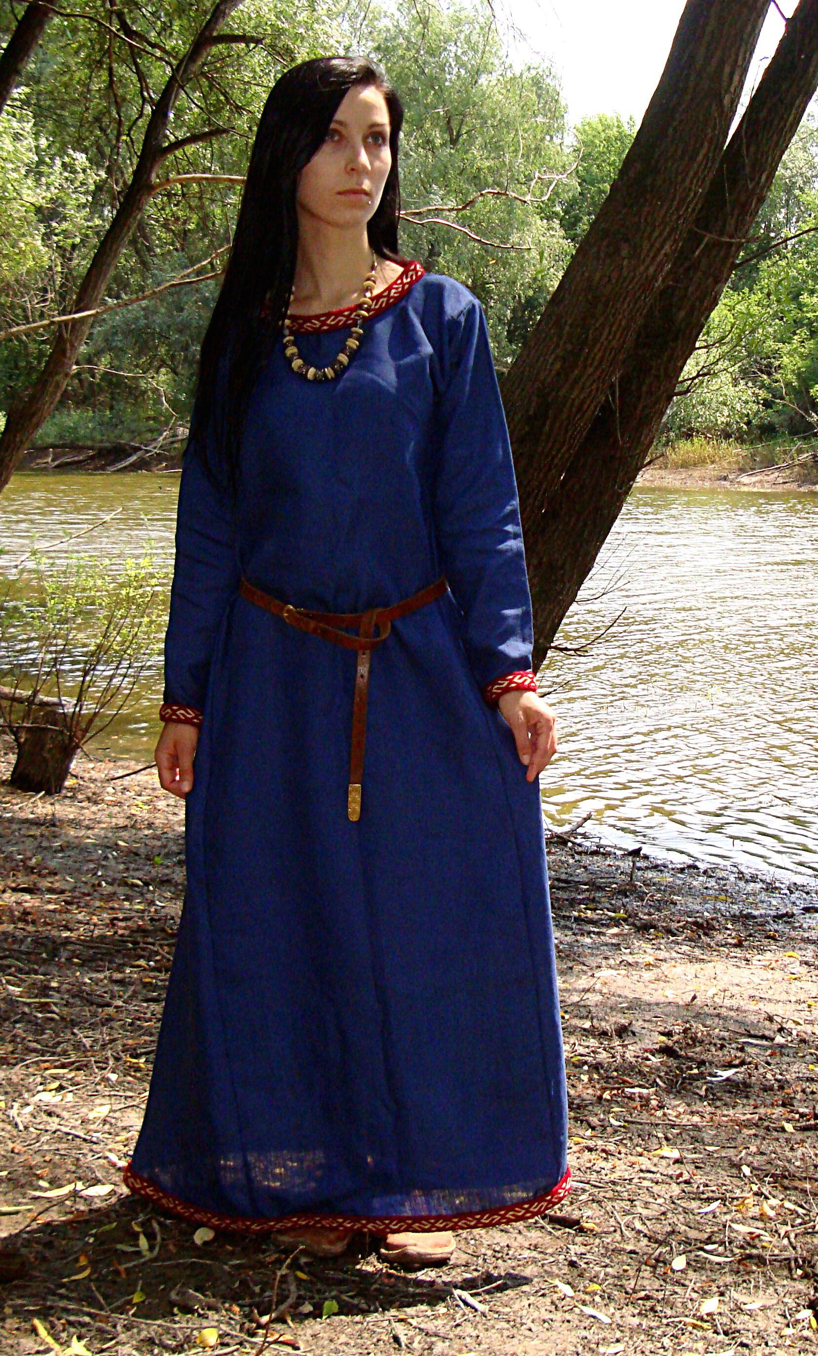 Early medieval underdress mede of linen Dresses, Viking