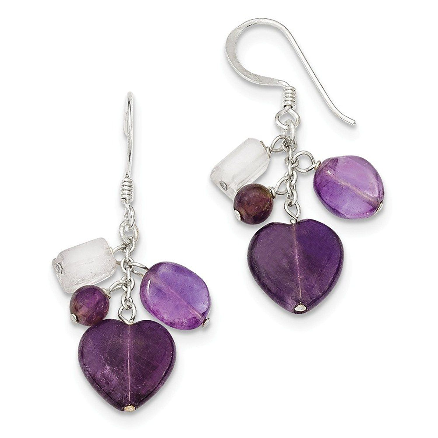 Ice carats 925 sterling silver purple amethyst heart drop dangle ice carats 925 sterling silver purple amethyst heart drop dangle chandelier earrings love fine jewelry gift arubaitofo Choice Image