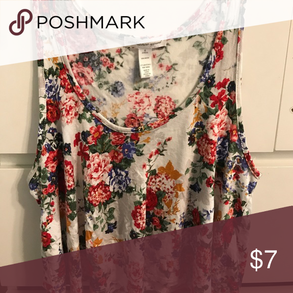 "Multicolored floral ""Ambiance Apparel"" crop top Multicolored, floral, flowy, crop top Ambiance Apparel Tops Crop Tops"
