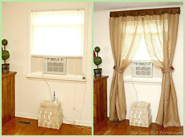 The Cozy Old Farmhouse Cute Rustic Curtain Idea Bedroom