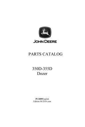 john deere 350d 355d dozer parts ctatlog manual pc2089 heavy rh pinterest com 1987 honda trx 350d repair manual Chilton Manuals