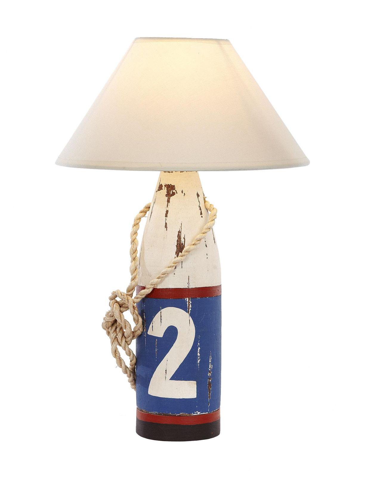 Lampe Holzboje 2 Weiss Blau Rot L Wood Pinterest Table Lamp