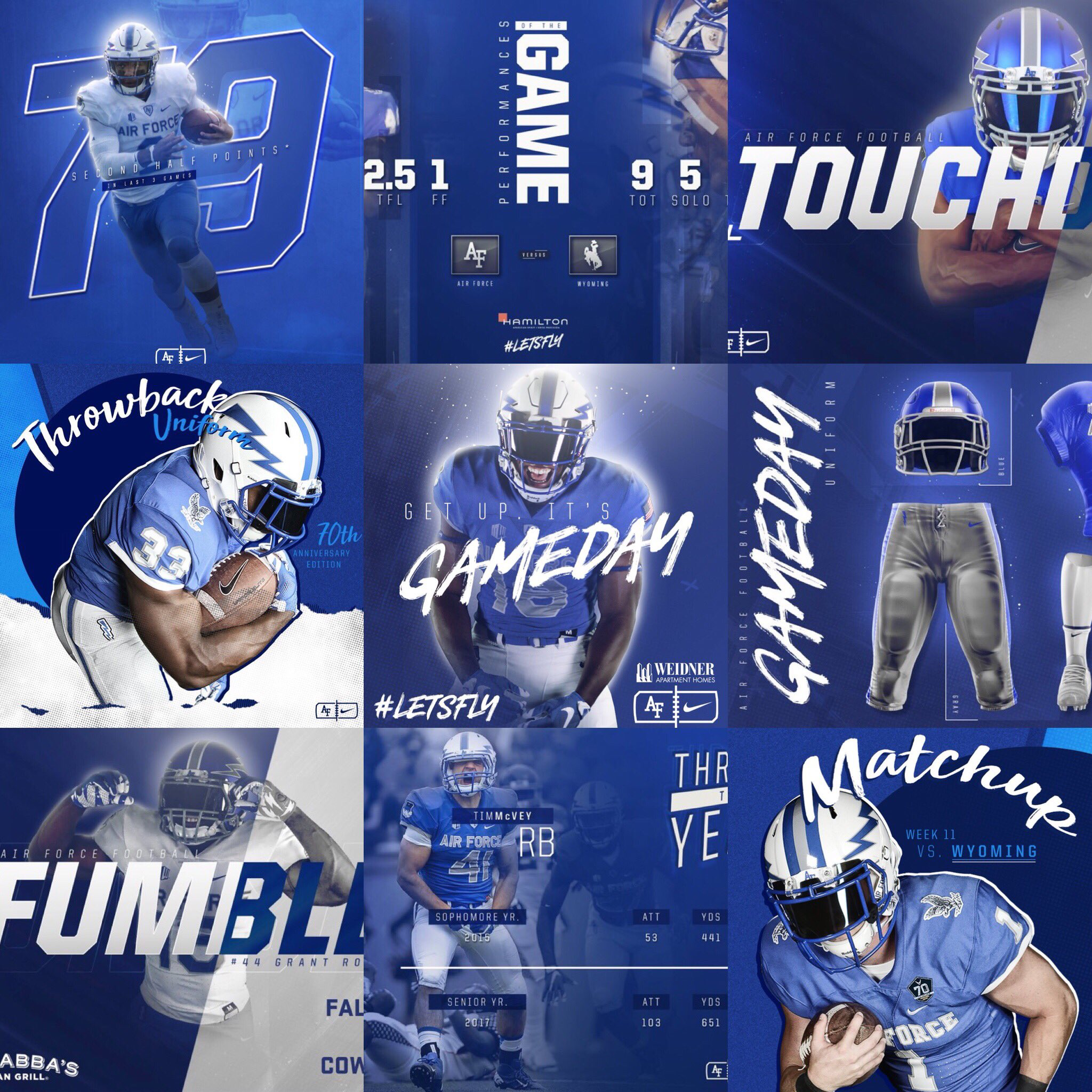 Air Force Football Sports Graphic Design Sports Design