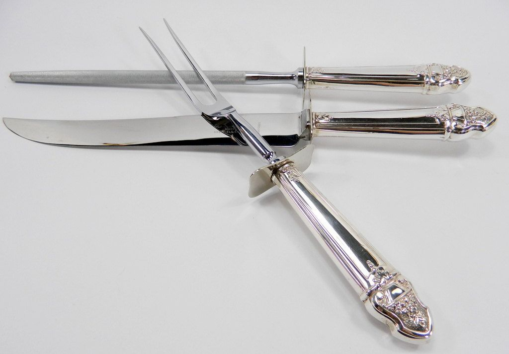 Sterling Silver Carving Set 3 Piece Sheffield England