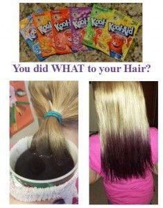 Kool Aid Hair Dye Halloween Pinterest Kool Aid Hair