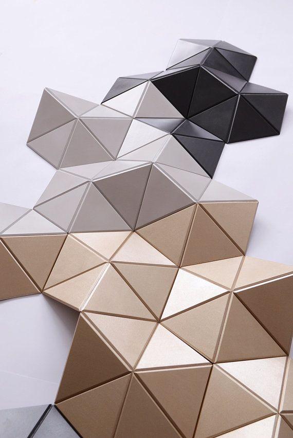 Geometric Wood Art Gold Wall Decor 3d Wall Sculpture Wood Etsy In 2021 Wood Wall Sculpture Gold Wall Art Origami Wall Art