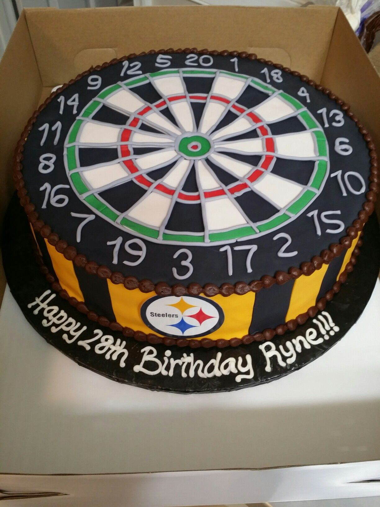 Dart Board Steelers Birthday Cake Cakes Michelle Price