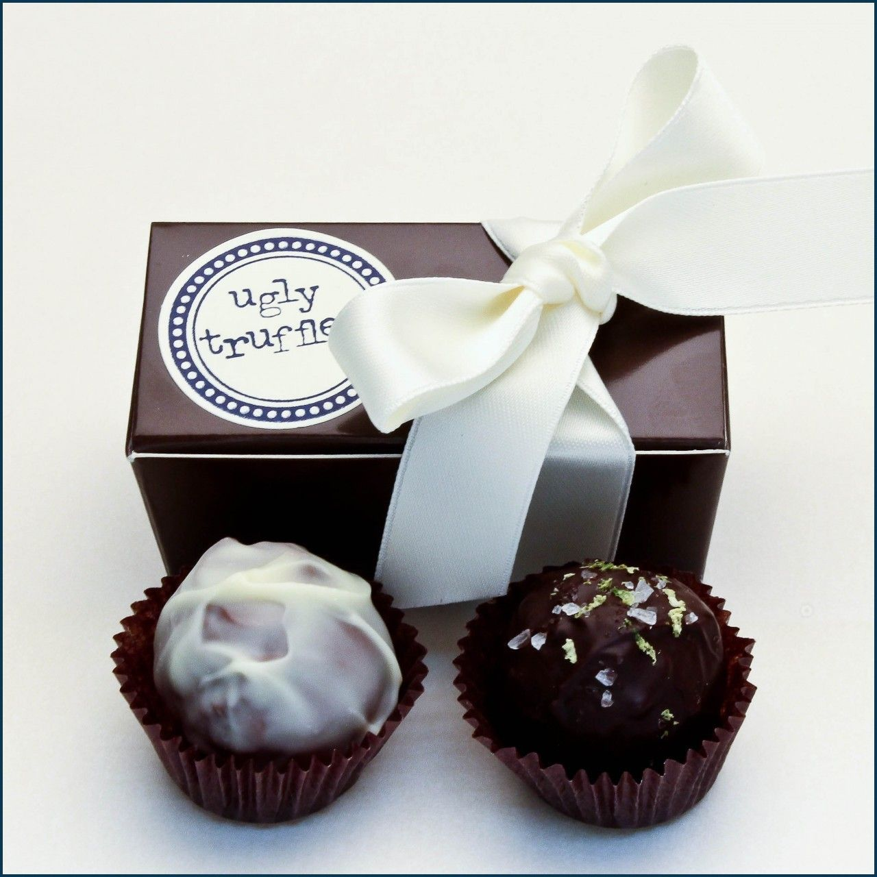 2 piece chocolate truffle box | Truffle boxes, Favors and Weddings