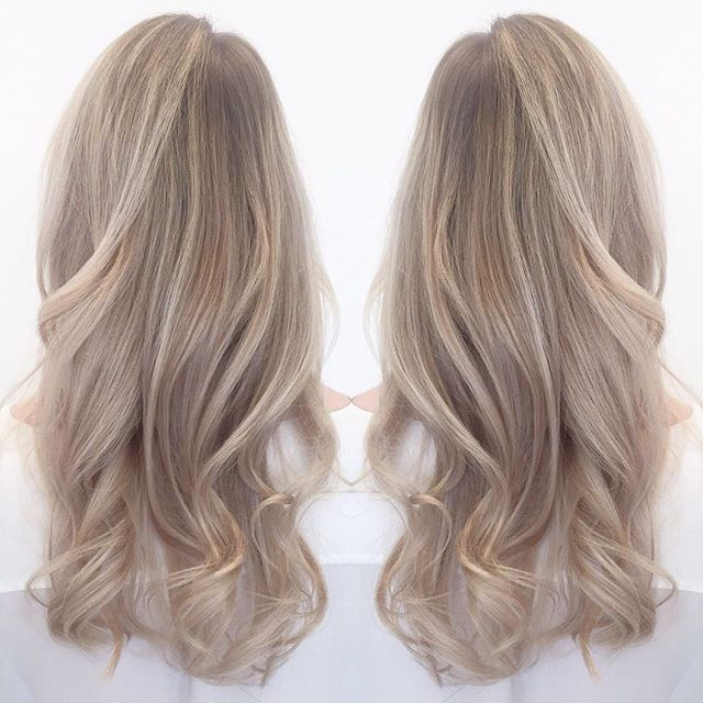 #balayage #balayagehighlights #balancedhighlights #coolblonde #ashblonde #haircolor #hairstyl… – Hair Colors Blonde Ideen