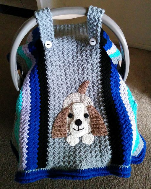 Crochet Baby Car Seat Cover With Pattern Baby Cars Car