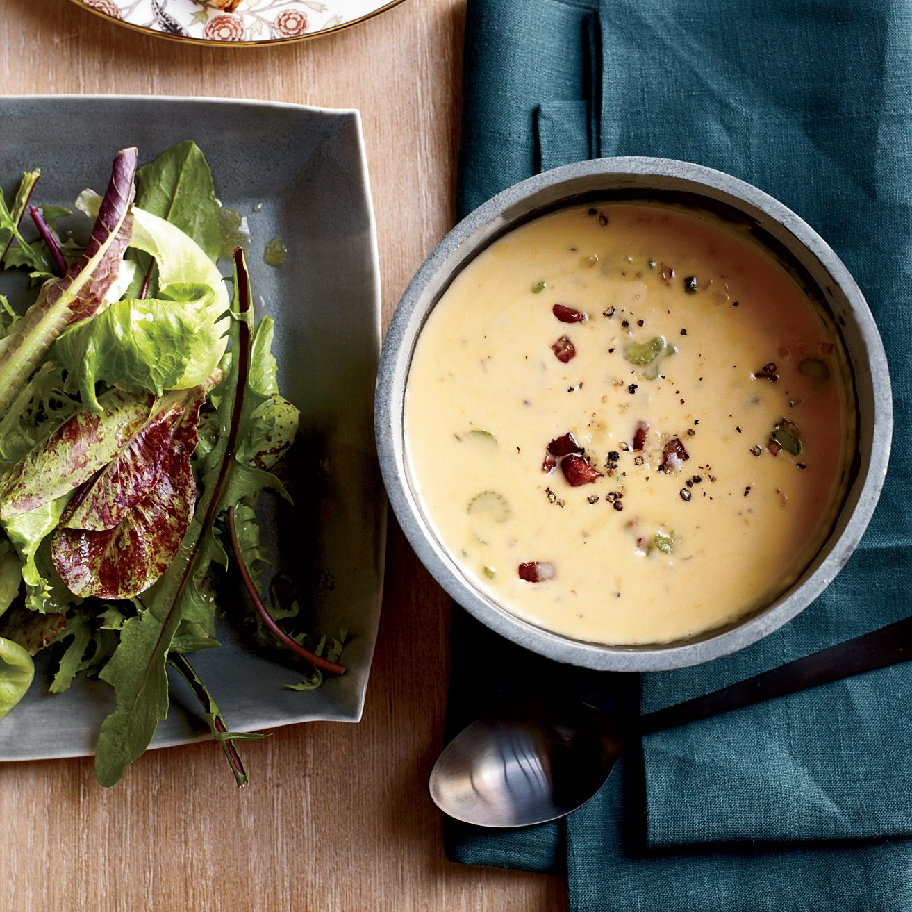 This super rich cheddar-cheese soup gets extra flavor from jalapeños, smoky bacon and a shot of beer.