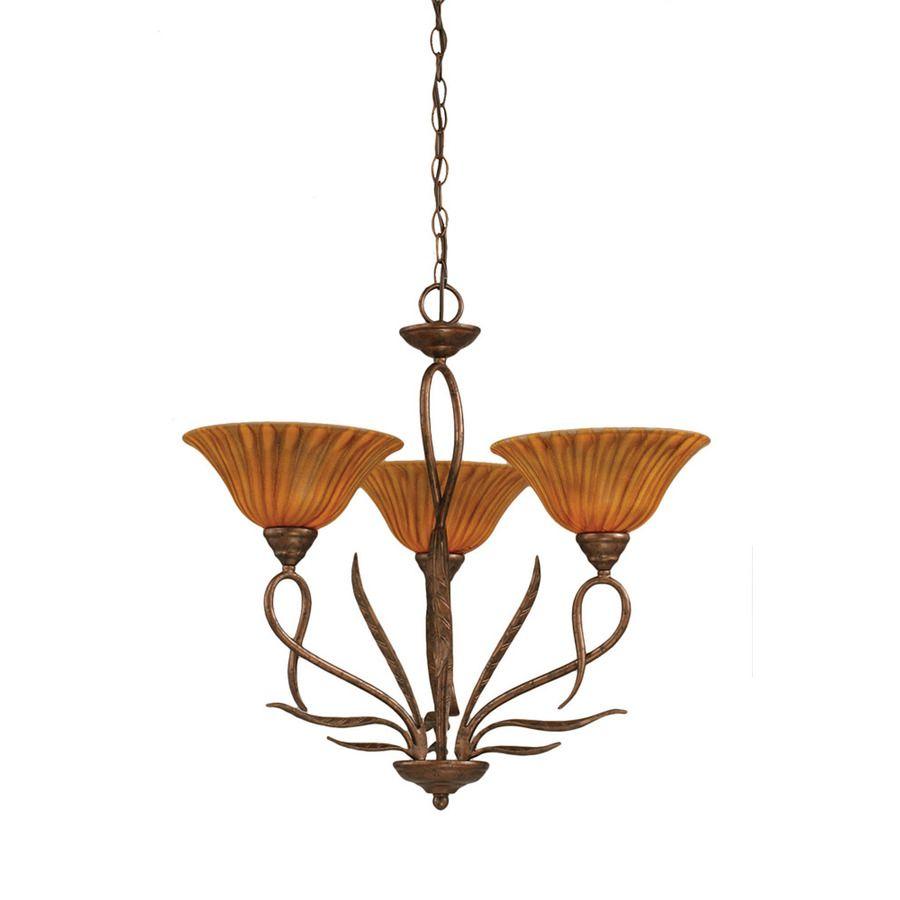 Shop Divina 3 Light Bronze Chandelier At Lowes Com Bronze