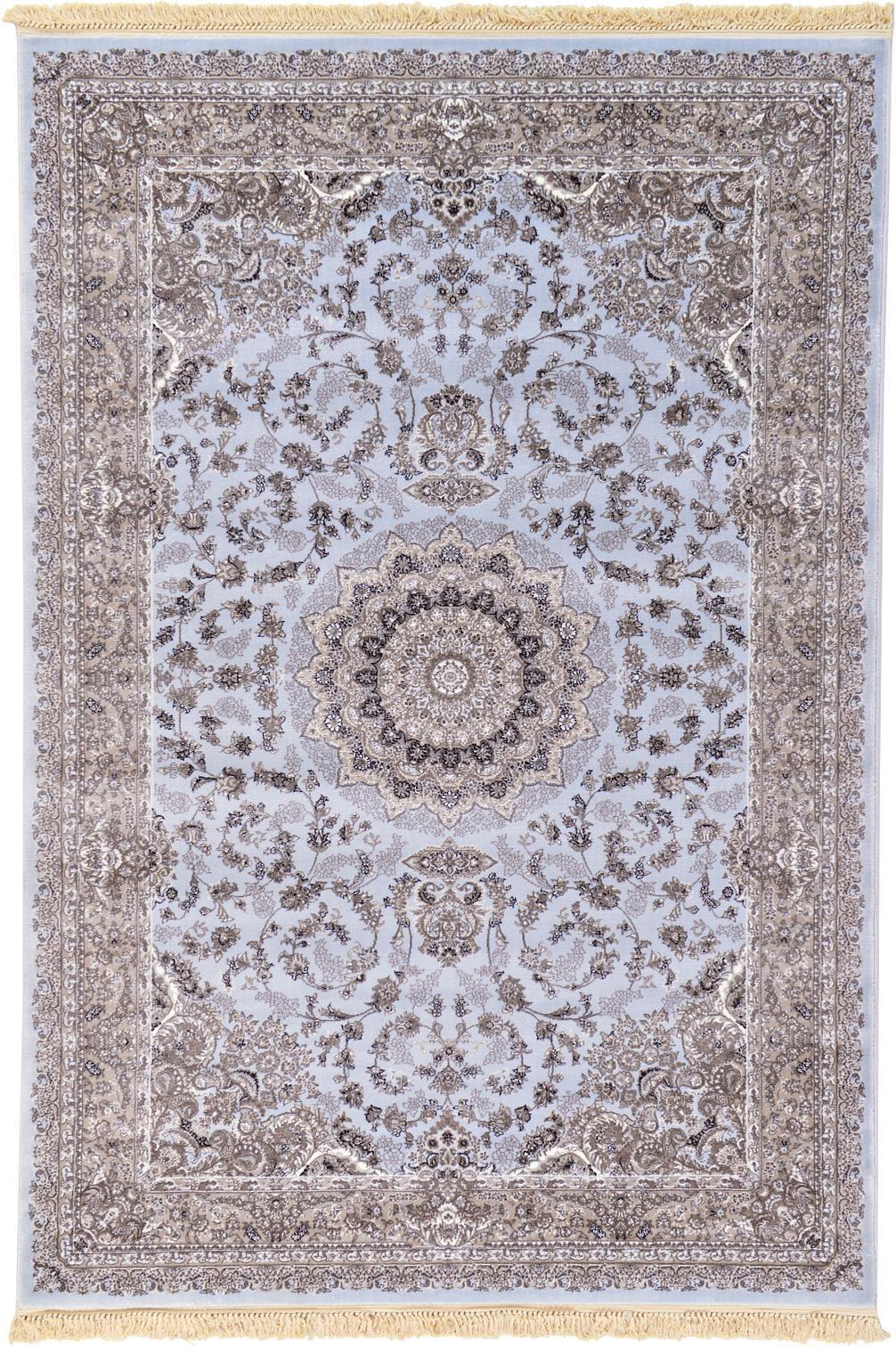 Light Blue 6 7 X 9 9 Isfahan Design Rug Area Rugs Esalerugs