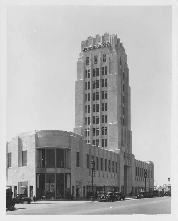 Desmonds department store wilshire tower building 1930
