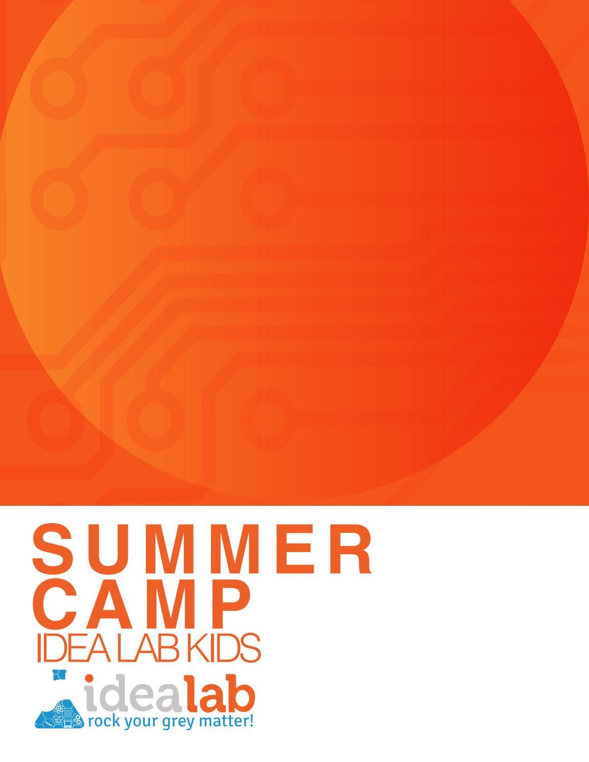 2018 Idea Lab Kids Summer Camp Information Brochure