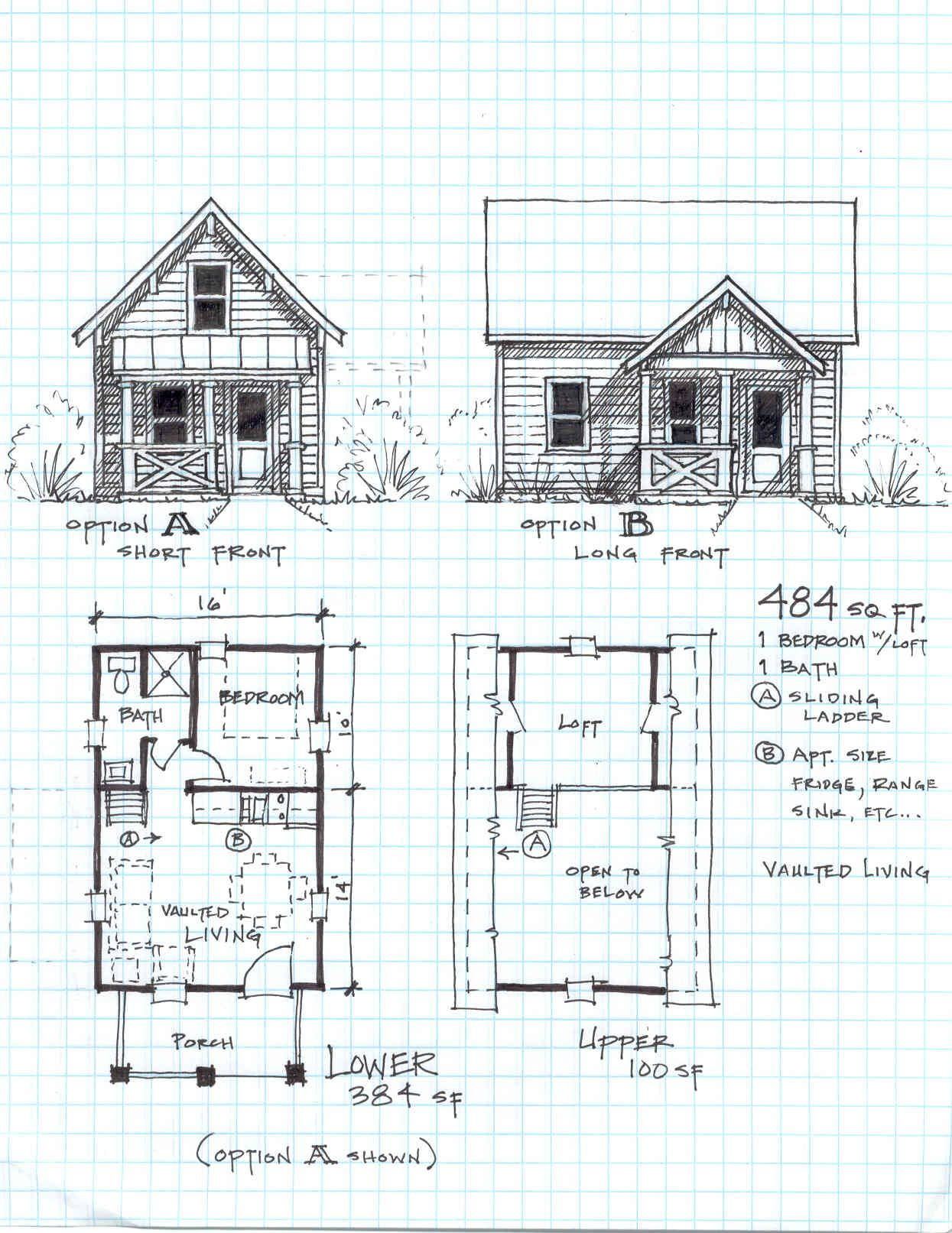 Free small cabin plans that will knock your socks off Cottage with loft