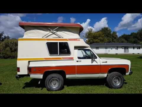 1976 Gmc Jimmy With Chalet Camper Video Gm Flower Cars