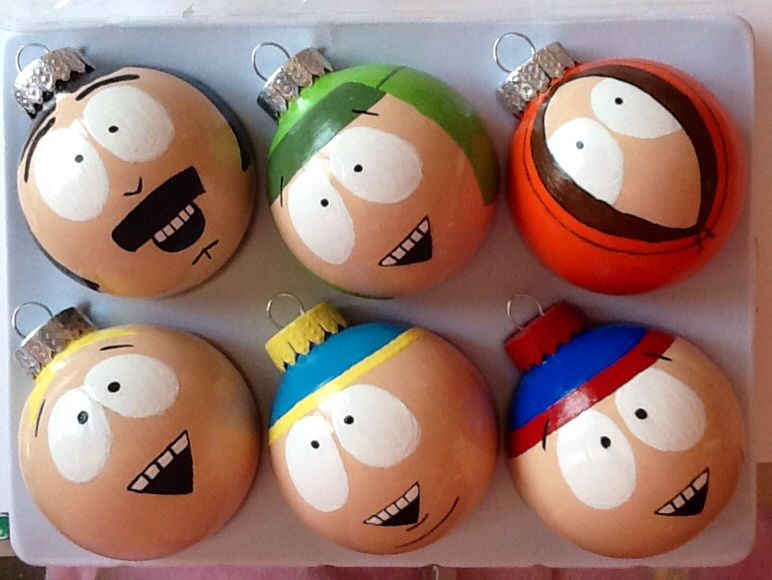 My hand painted South Park Christmas ornaments *Created by ...