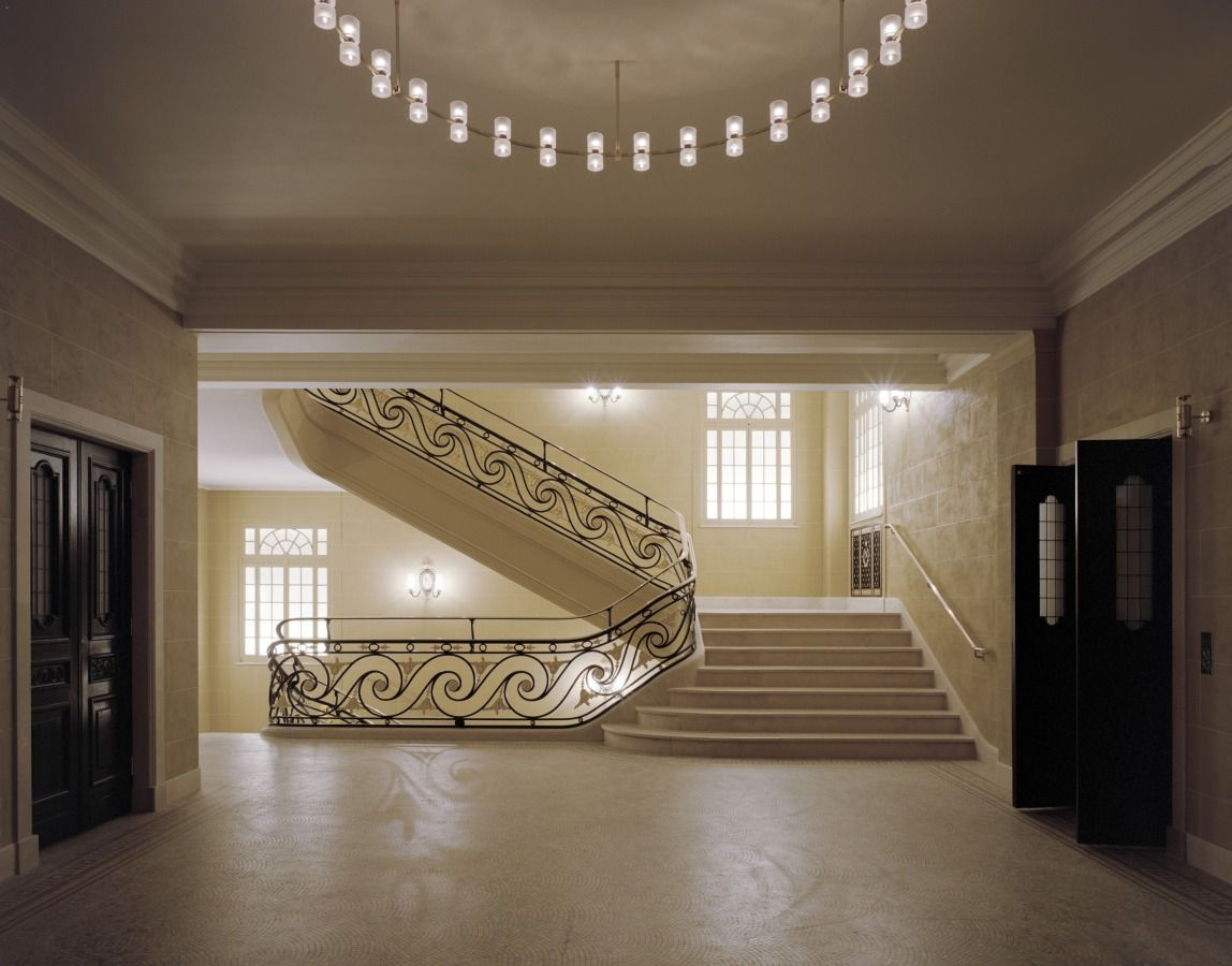 the beautiful grandeur of a classical staircase. interior of the
