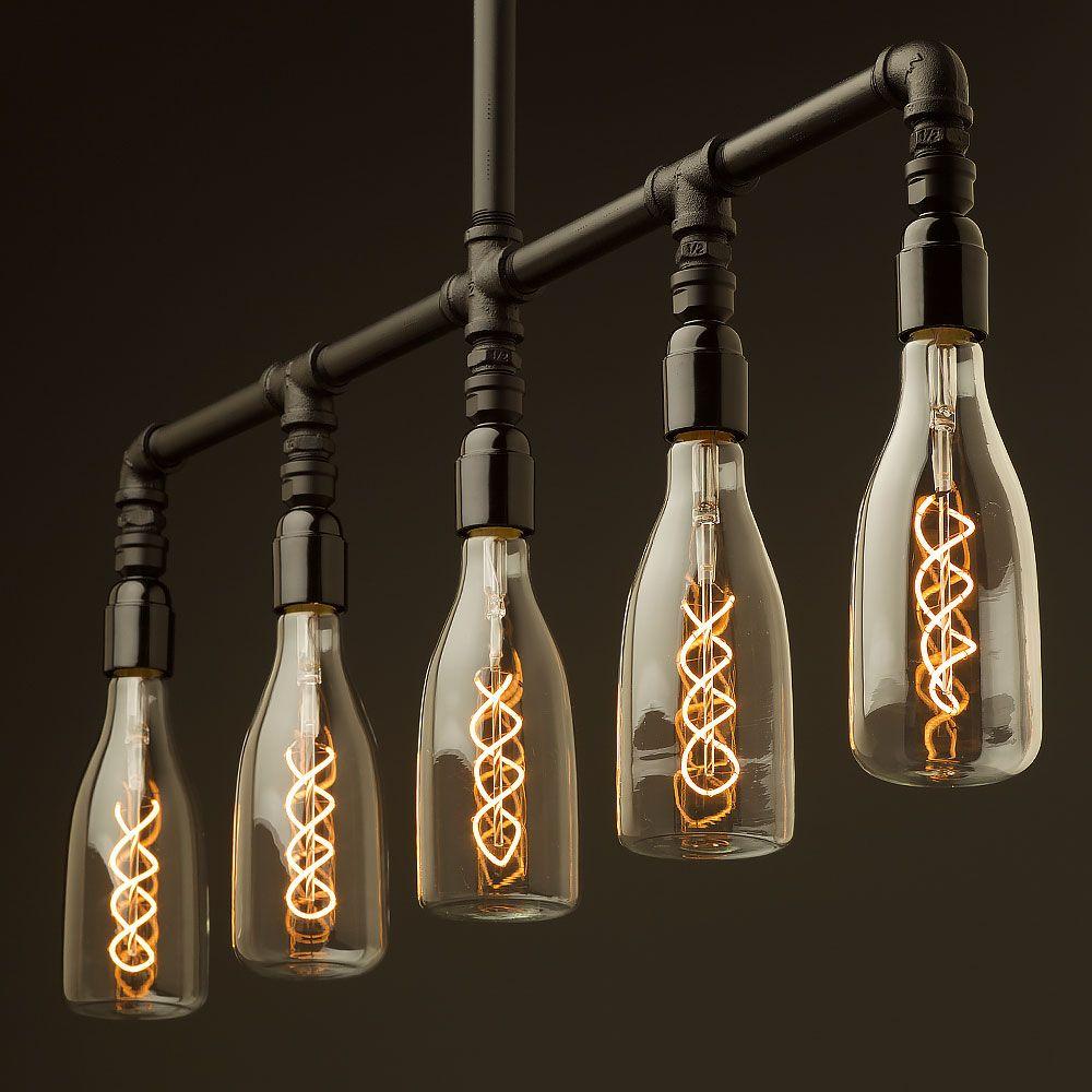 Bakelite multi bulb Plumbing Pipe Chandelier   Plumbing pipe, Light ...