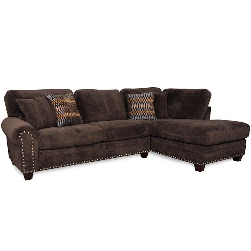 Corinthian 5300 Traditional Styled Sectional Sofa With: Bingo Chocolate Sectional By Albany $999