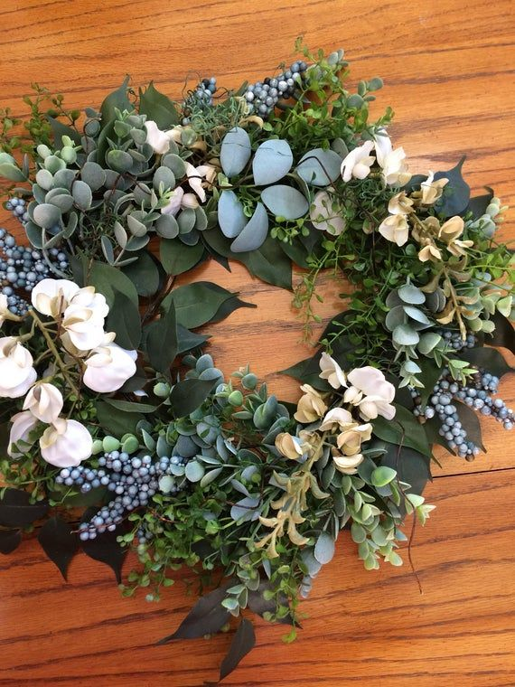 Photo of Rustic Greenery Wreath or Centerpiece