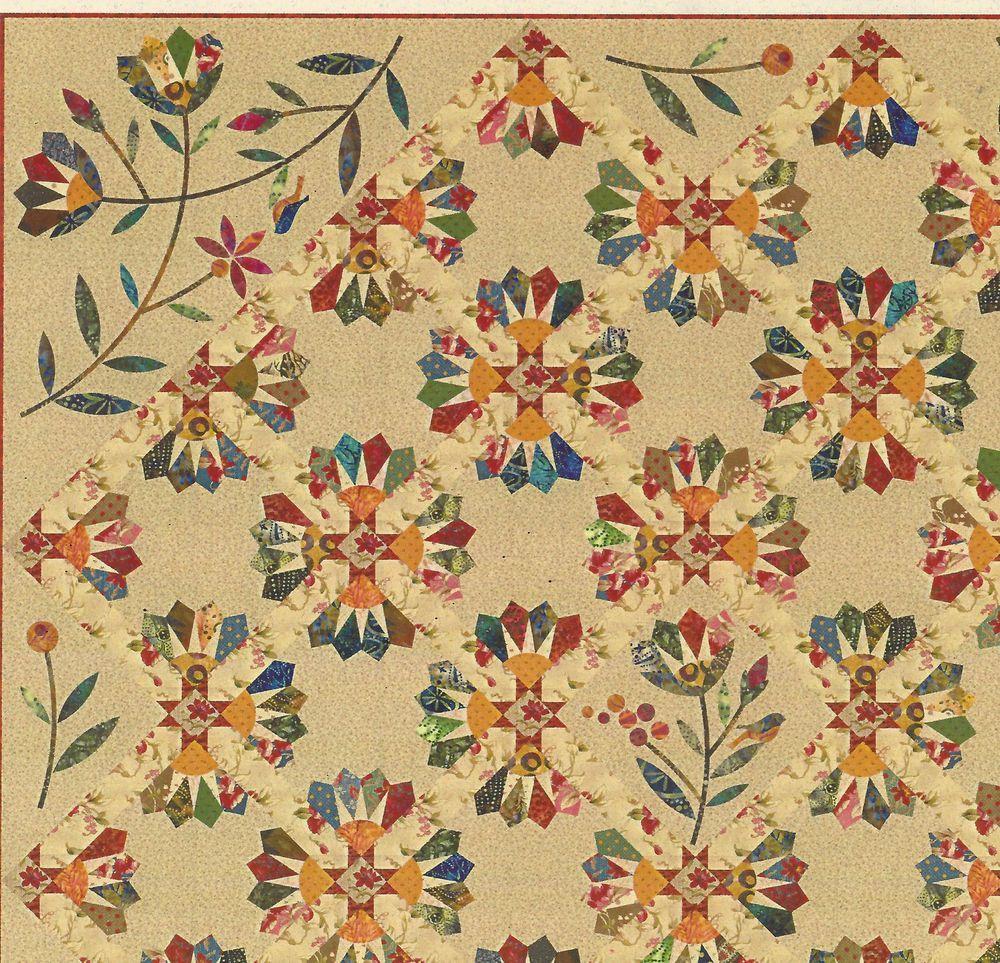 Dresden Bloom Star Quilt Pattern Templates ~ Edyta Sitar Laundry Basket Quilts