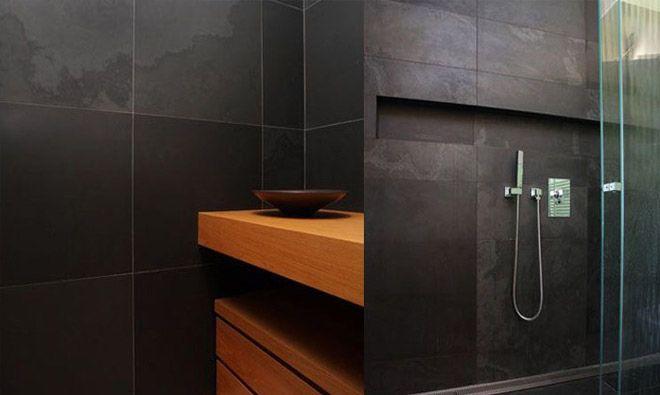 Ardoise noire Salle de bains Pinterest - salle de bain ardoise