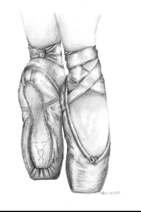 Ballerinaschuhe Zeichnung | Zeichnungen, Schöne zeichnungen