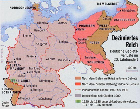 Das Dezimierte Deutsche Reich Nach 1945 Schlesien Stettin