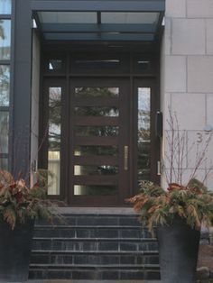 modern front door u0026 awning allows light in