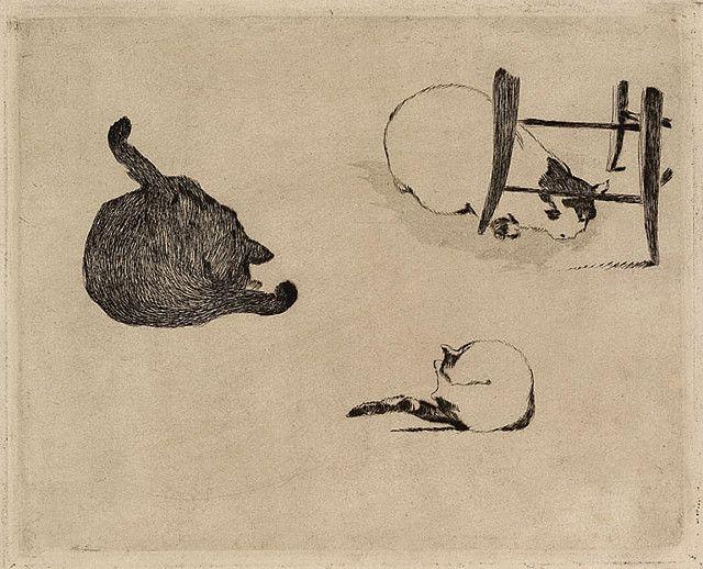 Les Chats etching and aquatint | Édouard Manet